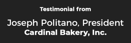 Testimonial_Joseph Cardinal Bakery