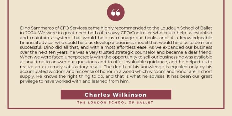 Charles Wilkinson, Testimonial