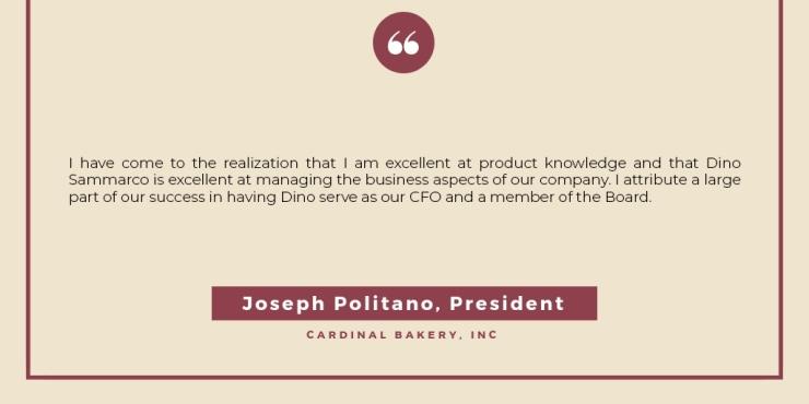 Joseph Politano, Testimonial
