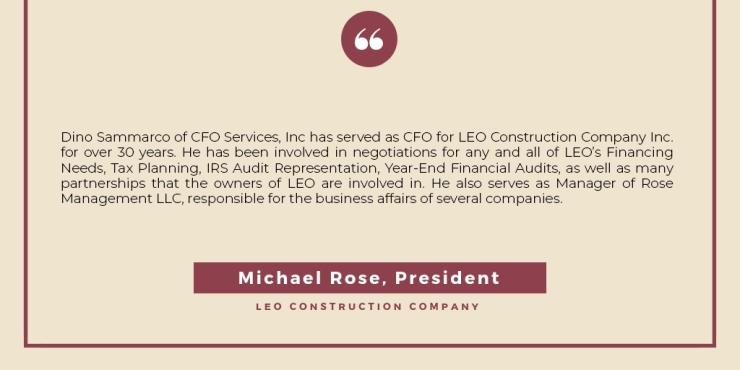Michael Rose, Testimonial